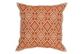Accent Pillow-Carrot Diamond Print 18X18