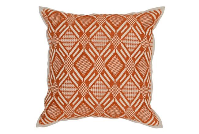 Accent Pillow-Carrot Diamond Print 18X18 - 360