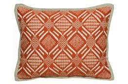 Accent Pillow-Carrot Diamond Print 12X16