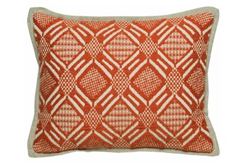 Accent Pillow-Carrot Diamond Print 12X16