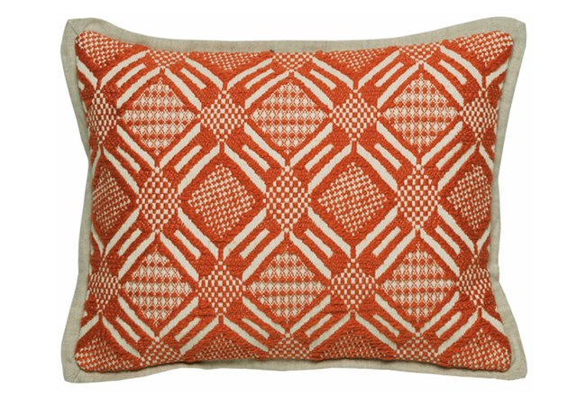 Accent Pillow-Carrot Diamond Print 12X16 - 360