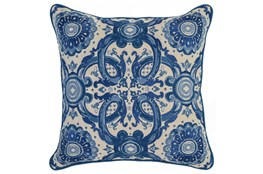 Accent Pillow-Marine Tribal Arabesque 18X18