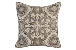 Accent Pillow-Taupe Tribal Arabesque 18X18