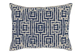 Accent Pillow-Indigo Tribal Maze 14X20
