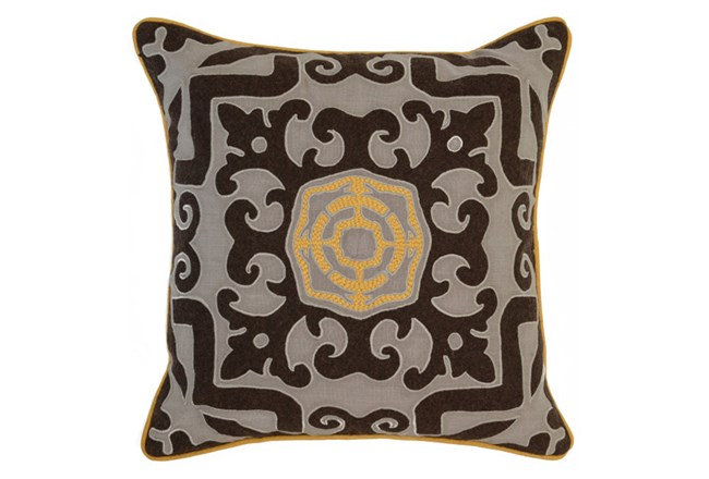 Accent Pillow-Mango Center Medallion 22X22 - 360