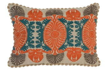 Accent Pillow-Carrot Tribal Ogee 14X20
