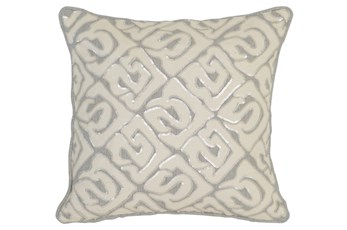 Accent Pillow-Grey Tribal Print 18X18