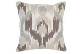 Accent Pillow-Ivory Textured Ikat 22X22