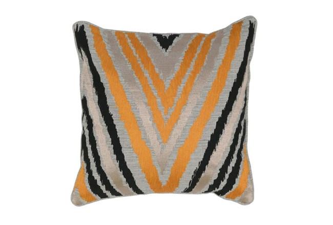 Accent Pillow-Apricot Chevron 18X18 - 360