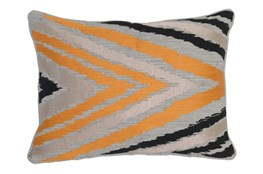 Accent Pillow-Apricot Side Chevron 14X20