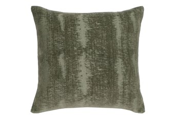 Accent Pillow-Olive Distressed Velvet 18X18
