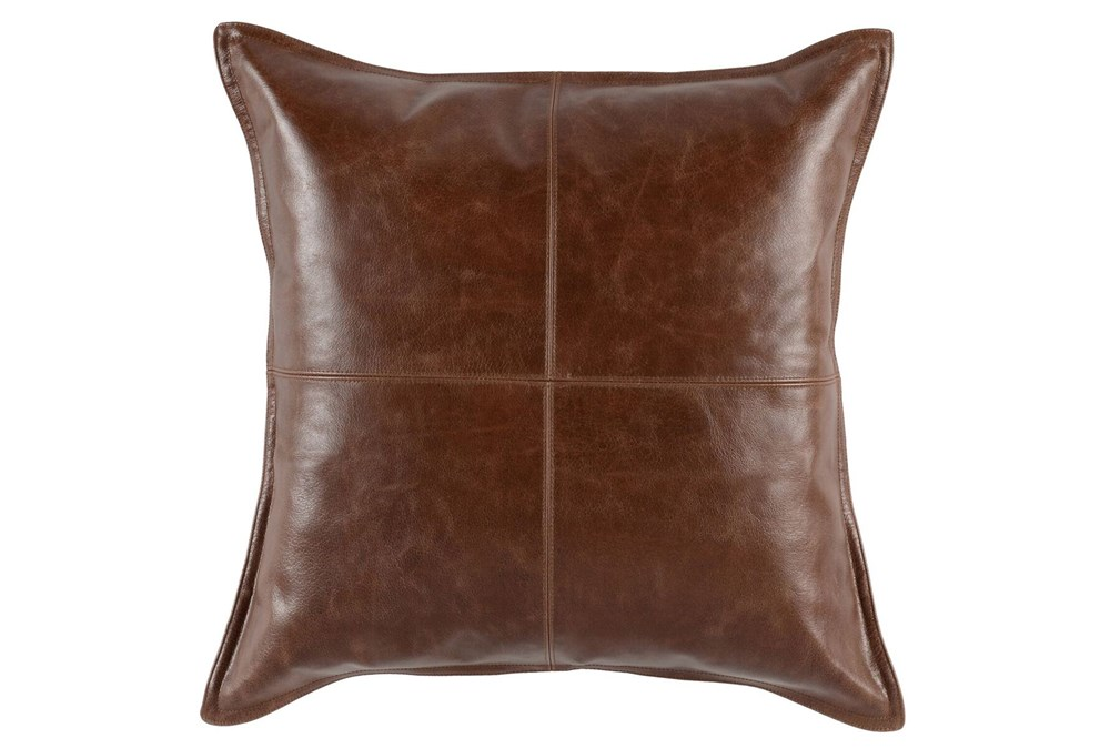 Accent Pillow-Cognac Leather 22X22