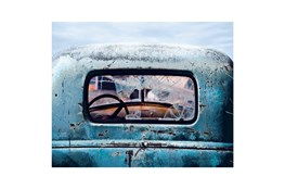 Picture-Old Blue Car 36X48