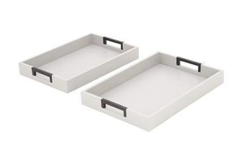 2 Piece Set Steel Trays