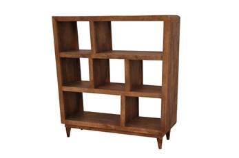 Mango Wood Sawan Finish Cube 7-Hole Display Bookcase