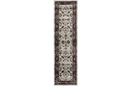 27X96 Rug-Mariam Moroccan Stone/Red