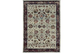 102X139 Rug-Mariam Moroccan Stone/Red