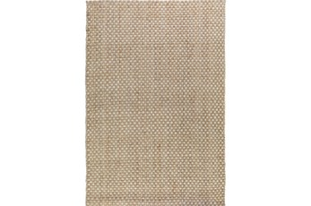 60X96 Rug-Natural Basketweave Jute