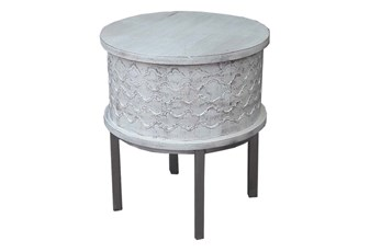Antique White End Table