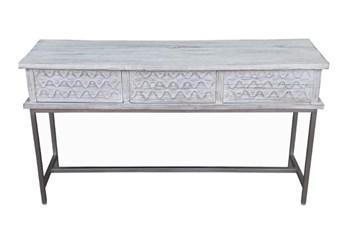 Antique White Console Table