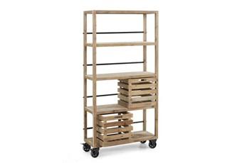 Natural Medium Bookcase W/Boxes