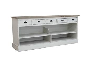 White 5-Drawer Bookcase W/Shelf