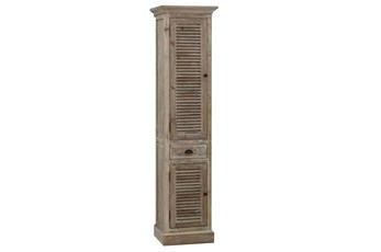 Natural Narrow Shutter Cabinet