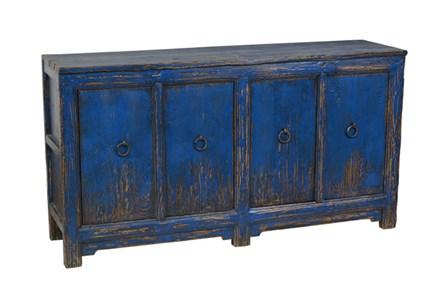 Blue Reclaimed Pine 4-Door Buffet