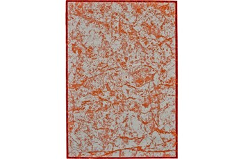 120X158 Rug-Aged Marble Orange