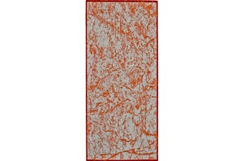 34X94 Rug-Aged Marble Orange