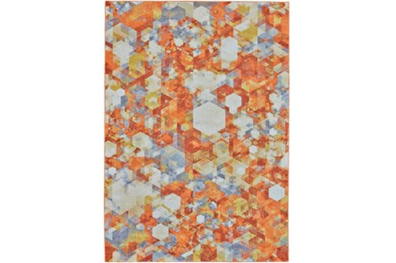 26X48 Rug-Pixel Orange/Multi