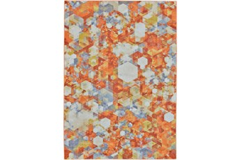 60X96 Rug-Pixel Orange/Multi