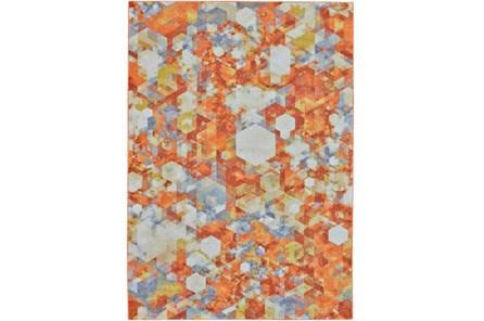120X158 Rug-Pixel Orange/Multi