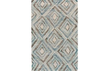 60X96 Rug-Talum Diamonds Blue