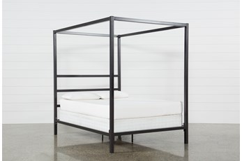 Orson Graphite California King Metal Canopy Bed