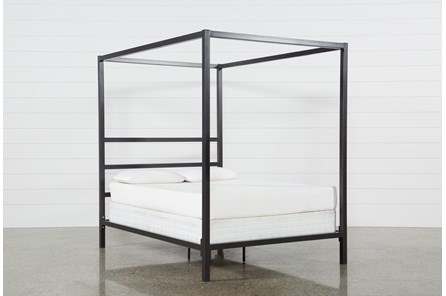 Orson Graphite Eastern King Metal Canopy Bed
