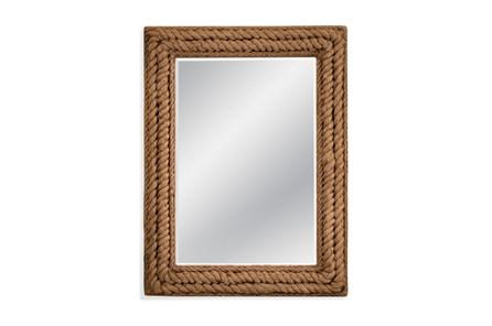 Mirror-Distressed Grey Monarch 37X49