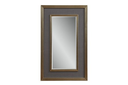 Mirror-Grey Linen And Gold 30X48