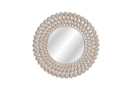 Mirror-3 Tier Silver Leaf 36X36
