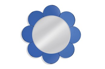 Mirror-Blue Petal 36X36