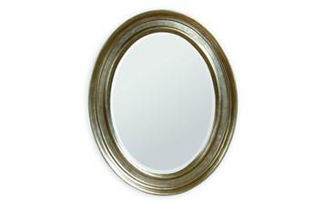 Mirror-Silver Leaf Oval 33X41