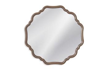 Mirror-Mini Distressed Wood 40X40