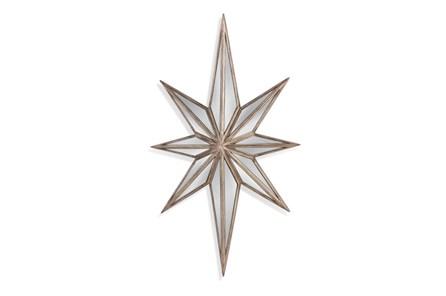 Mirror-Distressed Wood Star 16X28
