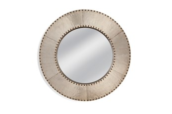 Mirror-Grey Studded Circle 48X48