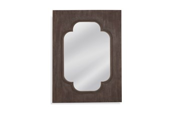 Mirror-Dark Wood Charm 36X48
