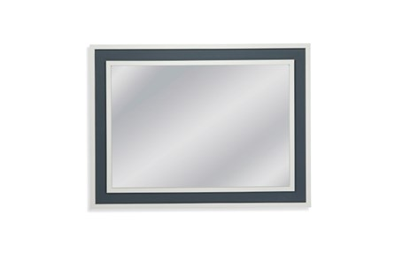 Mirror-White With Blue Accent 36X48