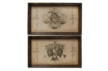 2 Piece Set Toscana Trays
