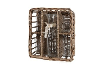 Basket Bottle And Cups