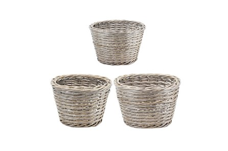 3 Piece Set Willow Baskets