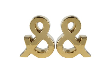 Gold Ampersand  Bookends